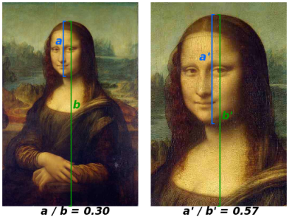 A gauche : indice de 0,30. A droite : indice de 0,57.