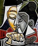 Tête d'une femme lisant, de Picasso