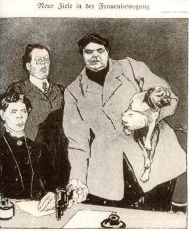 Caricature allemande, environ 1900 (source)