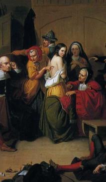 L'examen d'une sorcière par Thompkins H. Matteson