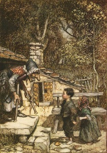 Illustration du conte Hansel et Gretel par Arthur Rackham (1909) (source)