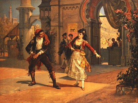 Dans l'opéra Carmen de Bizet (1875), le brigadier se laisse séduire par Carmen, une gitane libre et incontrôlable, et oublie Micaëla, jeune femme douce et soumise. Carmen est sans doute plus fascinante que Micaëla, mais le message de l'opéra est clair : Carmen provoquera la chute de Don José.