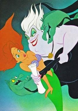 Ursula prend Arien au piège (Ariel la Petite Sirène)